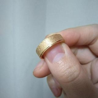 フロストリング オレンジゴールド 6mm幅(リング(指輪))