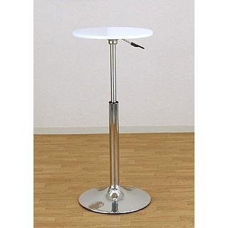 バーテーブル 直径390mm 高さ調節 昇降式 【ホワイト】 カウンターテーブル(バーテーブル/カウンターテーブル)