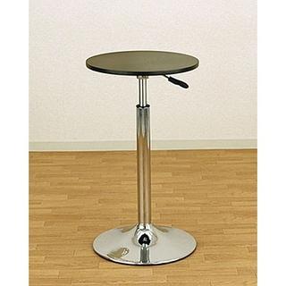 バーテーブル 直径390mm 高さ調節 昇降式 【ブラック】 カウンターテーブル(バーテーブル/カウンターテーブル)