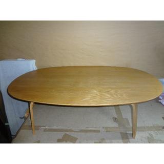 MUJI (無印良品) - 無印良品 muji オーバルテーブル タモ材