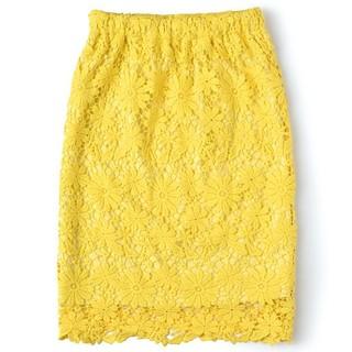 セシール(cecile)の新品cecile総レースタイトスカート(ひざ丈スカート)