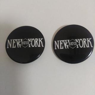 ニューヨークハット 缶バッチ 2個セット