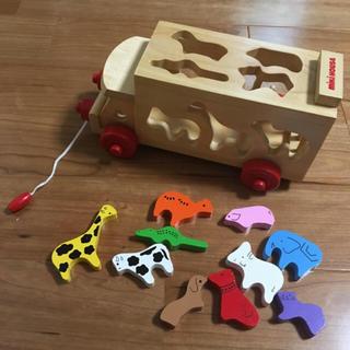 ミキハウス(mikihouse)のミキハウス 木製 動物 パズル(積み木/ブロック)