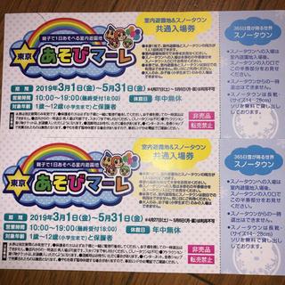 東京あそびマーレ招待券2枚(遊園地/テーマパーク)