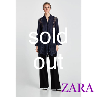 ザラ(ZARA)のsale!新品タグ付☆ZARAザラ☆エンブロイダリーレースシャツジャケット(その他)
