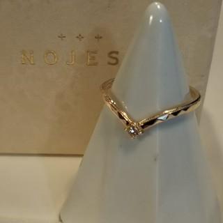 ノジェス(NOJESS)のノジェス K10 ダイヤモンド リング 9号 V字 限定品 美品(リング(指輪))