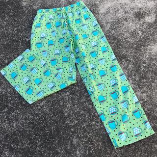 アウトドア(OUTDOOR)のused パジャマパンツ イージーパンツ コーヒー グリーン 緑 outdoor(カジュアルパンツ)