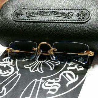 クロムハーツ(Chrome Hearts)の優生様専用正規クロムハーツ 度なしメガネ フレーム PILLS II ゴルード色(サングラス/メガネ)