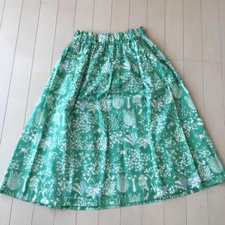 アンレクレ(en recre)のアンレクレ リバティ スカート(ひざ丈スカート)