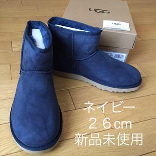 アグ(UGG)の新品 アグ クラシックミニ US9 26cm UGG ムートンブーツ ネイビー(ブーツ)