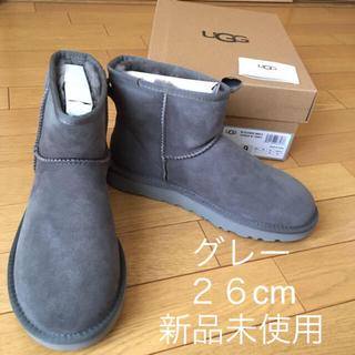 アグ(UGG)の新品 アグ クラシックミニ US9 26cm UGG ムートンブーツ グレー(ブーツ)