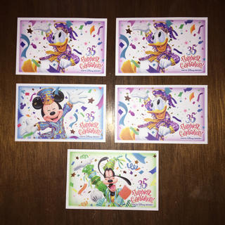 ディズニー(Disney)のディズニー パスポート 使用済 5枚(遊園地/テーマパーク)