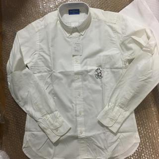 ディズニー(Disney)のディズニー ミッキー シャツ Yシャツ 白 服 衣類(シャツ/ブラウス(長袖/七分))
