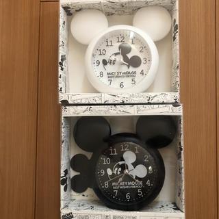 ミッキーマウス 置き時計 二個セット 新品