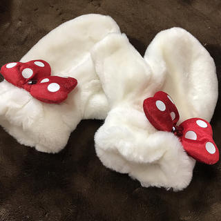 ディズニー(Disney)のミニーちゃん ミトン(手袋)
