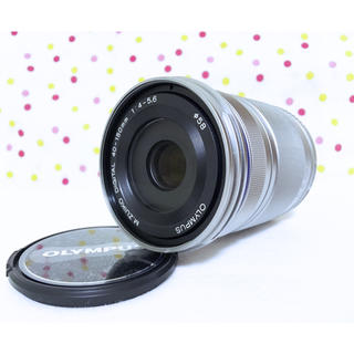 オリンパス(OLYMPUS)の新品❤️OLYMPUS 望遠レンズ M.ZUIKO 40-150mm シルバー(レンズ(ズーム))