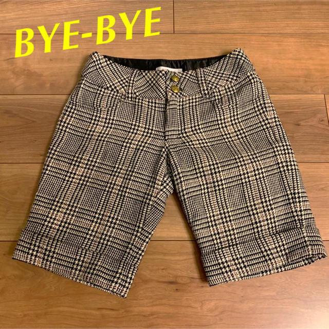 ByeBye(バイバイ)のBYE-BYE バーバリーチェック ハーフパンツ ブラック系 レディースのパンツ(ハーフパンツ)の商品写真