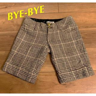 バイバイ(ByeBye)のBYE -BYE バーバリーチェック ハーフパンツ ブラウン系(ハーフパンツ)