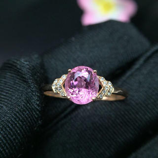 【超キュート】天然ピンク色トルマリン リング(リング(指輪))