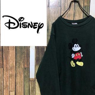 ディズニー(Disney)の【激レア】ディズニー☆ブルネイ製サイドプリントミッキープリントスウェット 90s(スウェット)