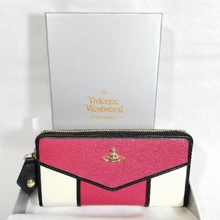 ヴィヴィアンウエストウッド(Vivienne Westwood)の新品未使用★ヴィヴィアンウエストウッド 正規品 財布 ピンク ホワイト マルチ(財布)