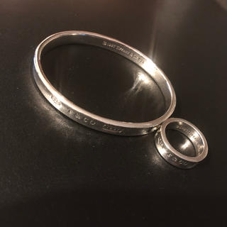 ティファニー(Tiffany & Co.)のティファニー ナロー リング ブレス セット 925(リング(指輪))
