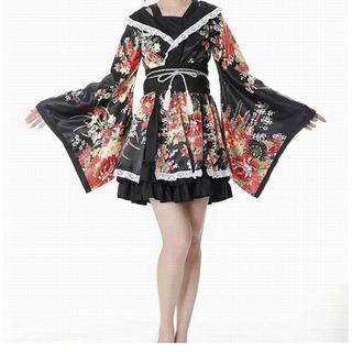 LOLITA LEMPICKA - レディース ロリータ ドレス 和風 メイド 花魁 コスプレ衣装 ミニ 踊りドレス