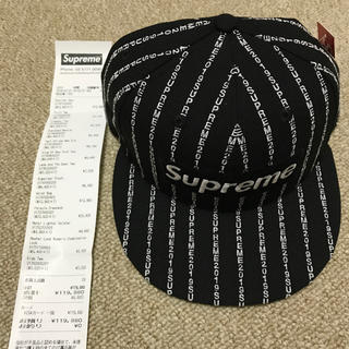 bea9f552 シュプリーム(Supreme)のsupreme text stripe New Era black 7 3/8(