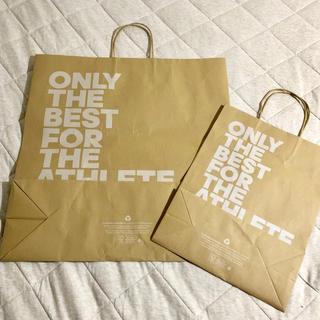 アディダス(adidas)のアディダス 特大 ショップ袋 2枚セットで(ショップ袋)
