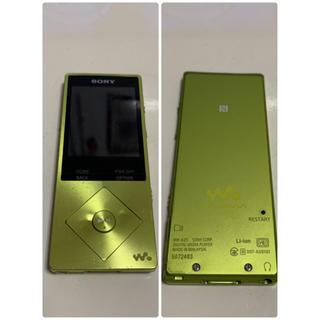 ウォークマン(WALKMAN)のSONY ウォークマン NW-A25 Aシリーズ 16GB ライムイエロー(ポータブルプレーヤー)