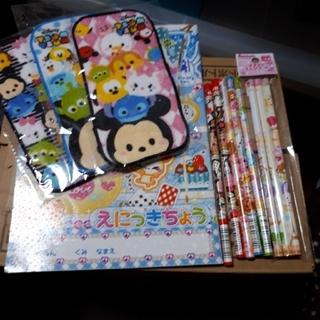 ディズニー(Disney)の絵日記帳、ツムツムタオル、6B4B鉛筆セット(鉛筆)