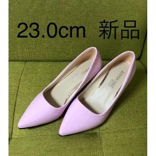 在庫処分 パンプス ピンヒール 7.5cm 美脚 エナメル 婦人靴(ハイヒール/パンプス)