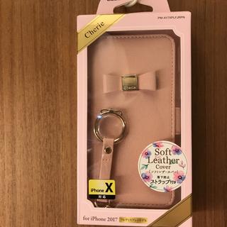 シェリー(CHERIE)の新品【Cherie 手帳型 リボン付】iPhoneⅹ XS  ケースカバーピンク(iPhoneケース)