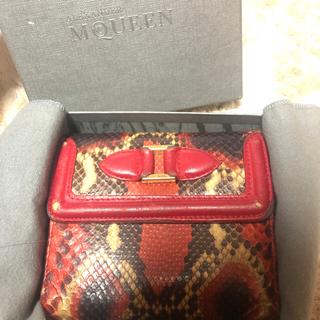 アレキサンダーマックイーン(Alexander McQueen)のAlexander McQueen  パイソン 折りたたみ財布(財布)