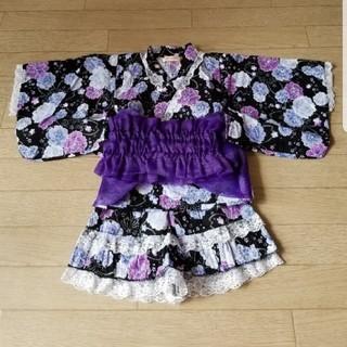 シマムラ(しまむら)の浴衣ドレス♥️甚平 90(甚平/浴衣)
