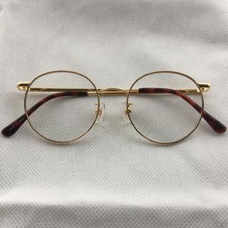 キャリー(CALEE)の完売 Calee 金 丸眼鏡 眼鏡 メガネ めがね 金子賢 着用 同型同色モデル(サングラス/メガネ)