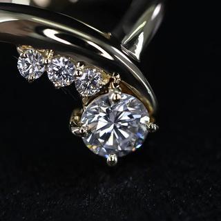 K18 ダイヤモンド リング 0.5ct(リング(指輪))