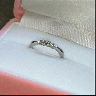 【すぎ様ご売約済】K18WG  ダイヤモンドピンキーリング  0.12ct(リング(指輪))