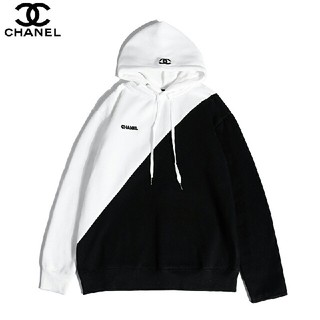 シャネル(CHANEL)のCHANEL 刺繍 シャネル 切替 ブラック ホワイト M(パーカー)