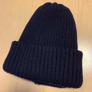 ブラウニー(BROWNY)のニット帽 ネイビー ニットキャップ(ニット帽/ビーニー)