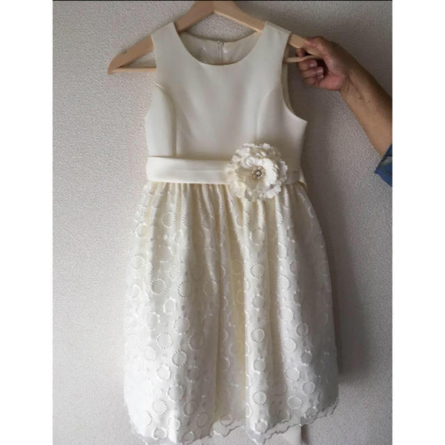 61b00e86015fe キッズ オフホワイト ドレス キッズ ベビー マタニティのキッズ服 女の子用(90cm