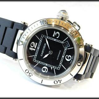 カルティエ(Cartier)のOH・研磨仕上げ済み◆Cartier腕時計 自動巻き SS×ラバー 41mm(腕時計(アナログ))