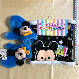 ディズニー(Disney)のミッキマウス ミトン & ネックウォーマー(手袋)