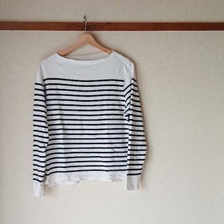 ムジルシリョウヒン(MUJI (無印良品))の無印✩.*˚ボーダーカットソー(Tシャツ/カットソー(七分/長袖))
