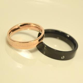 名入れ無料 平仮名 漢字可 バタフライ彫刻 ジルコニア ペア リング(リング(指輪))