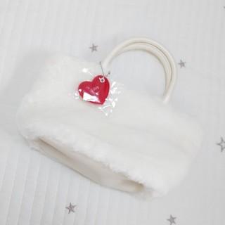 ヨンドシー(4℃)の【新品未使用】4℃ もこもこ 白 バッグ(ハンドバッグ)
