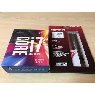 インテレクション(INTELECTION)のCPU Intel i7 7700k patriot メモリ セット(PCパーツ)