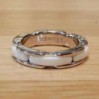 シャネル(CHANEL)の超美品 シャネル ウルトラリング 45 指輪 ホワイトセラミック 5号 J12(リング(指輪))