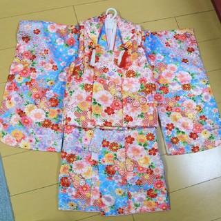 七五三 3歳 女の子 被布フルセット(和服/着物)