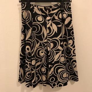 エクリュフィル(ecruefil)のecruefil ボックスプリーツ 柄スカート(ひざ丈スカート)